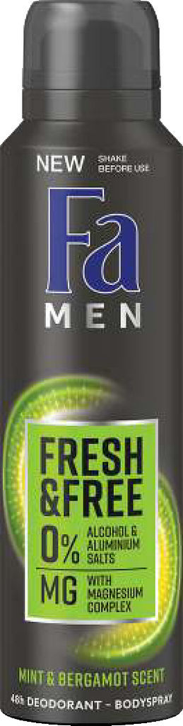 Dezodorant Fa men, Mint&bergamot, 150ml