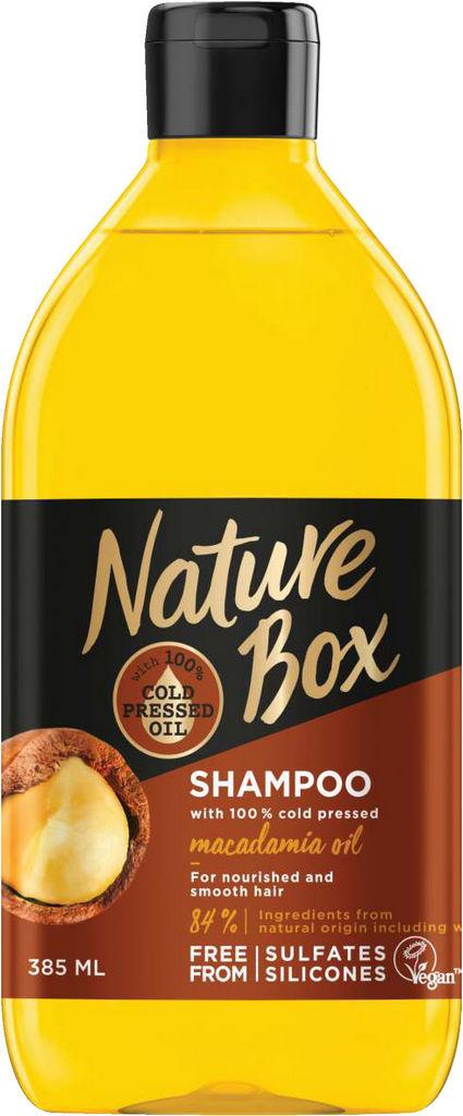 Šampon za lase Nature box, Macadamia, 385 ml