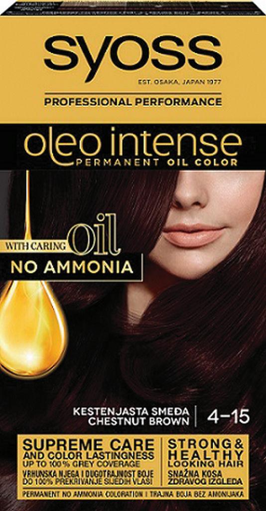 Barva za lase Syoss, Color Oleo 4-15 Chesnut brown