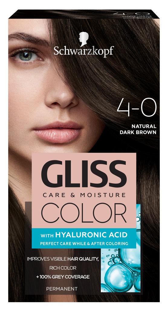 Barva za lase Gliss Color, 4 – 0 dark brown