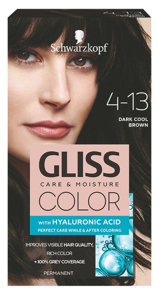 Barva za lase Gliss Color, 4 – 13 dark cool brown