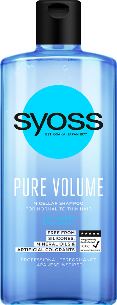 Šampon za lase Syoss Pure volume, 440 ml