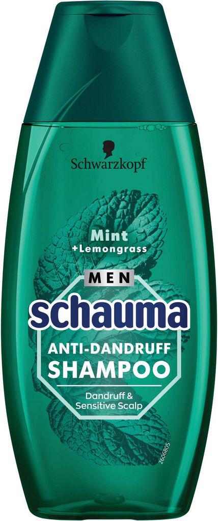 Šampon za lase proti prhljaju Schauma, moški, AD Sensitive mint & lemongrass, 250ml