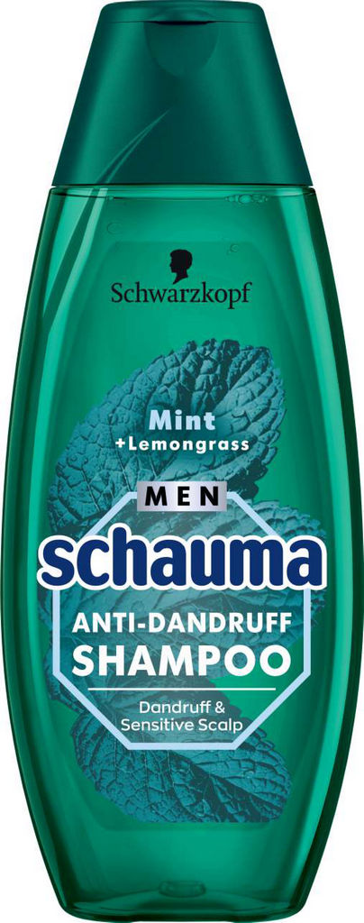 Šampon za lase Schauma, moški, AD Sensitive mint & lemongrass, 400ml