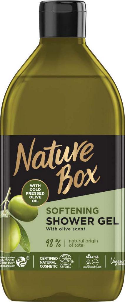 Gel za prhanje Nature Box, olive, 385ml