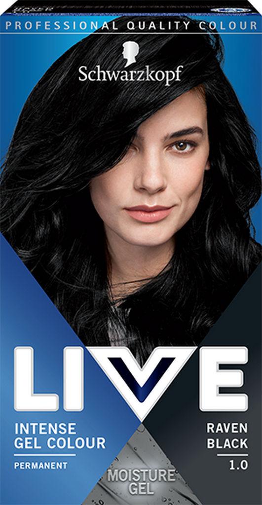 Barva za lase Live, 1.0 Črna