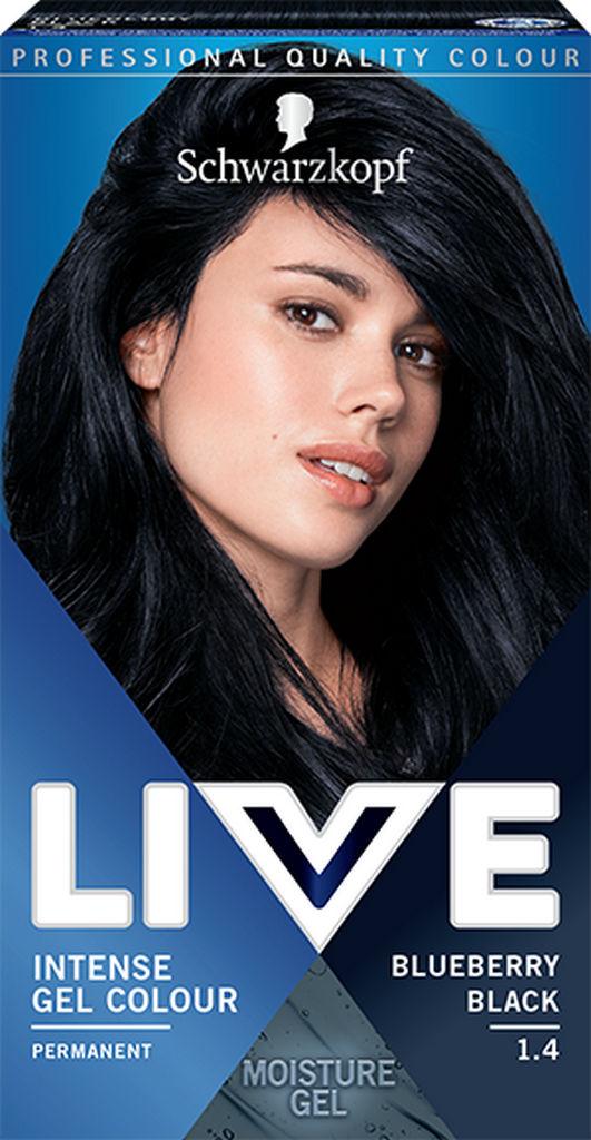 Barva za lase Live, 1.4 Črna borovnica