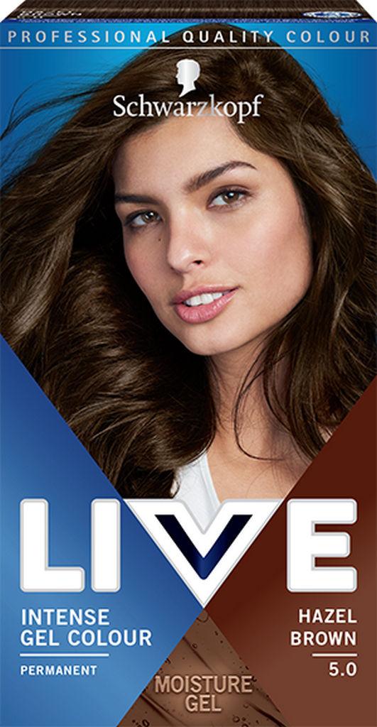 Barva za lase Live, 5.0 Lešnik rjava
