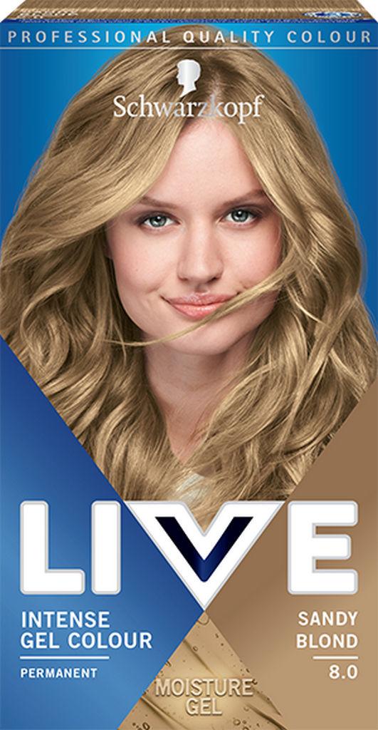 Barva za lase Live, 8.0 Peščeno blond