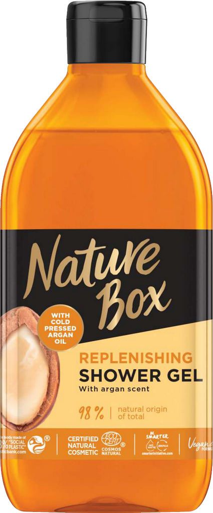 Gel za prhanje Nature Box, argan, 385ml
