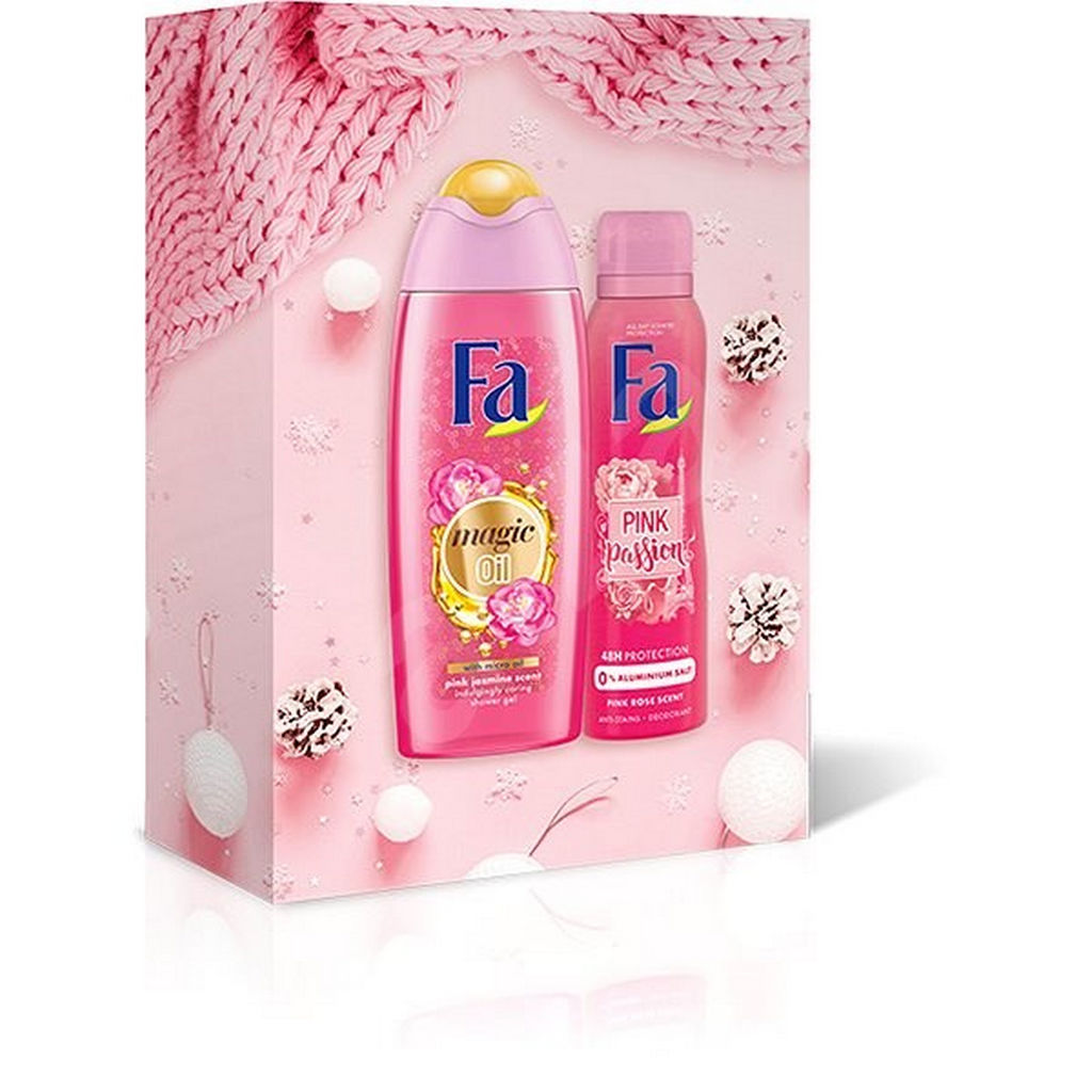 Darilni set Fa, Magic Pink ženski, Magic oil 250 ml + Deo Fa Pink Passion 150 ml