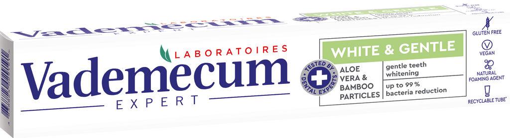 Zobna pasta Vademecum White & Gentle z aloe vero in bambusom, 75 ml