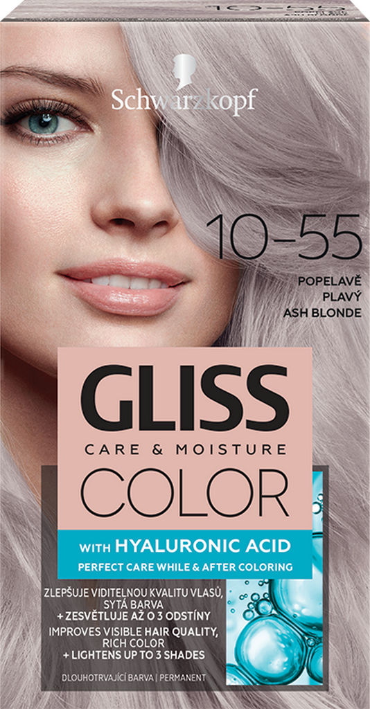 Barva za lase Gliss Color, 10 – 55 Ash Blonde
