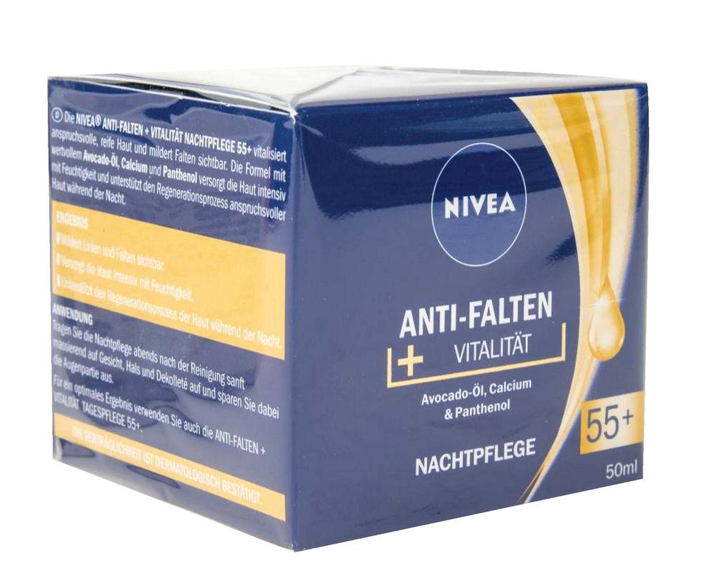 Krema Nivea, Anti-wrinkle, nočna, 55+, 50ml