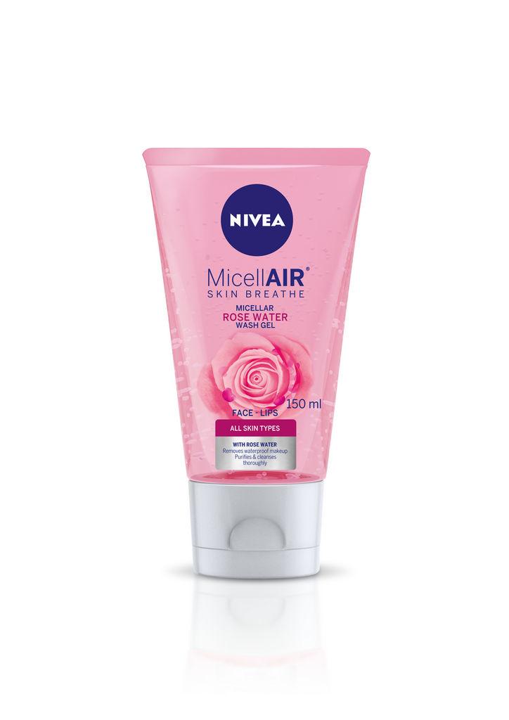 Gel za čiščenje obraza Nivea rose water, 150ml