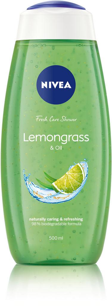 Gel za prhanje Nivea, Lemongrass & oil, 500 ml