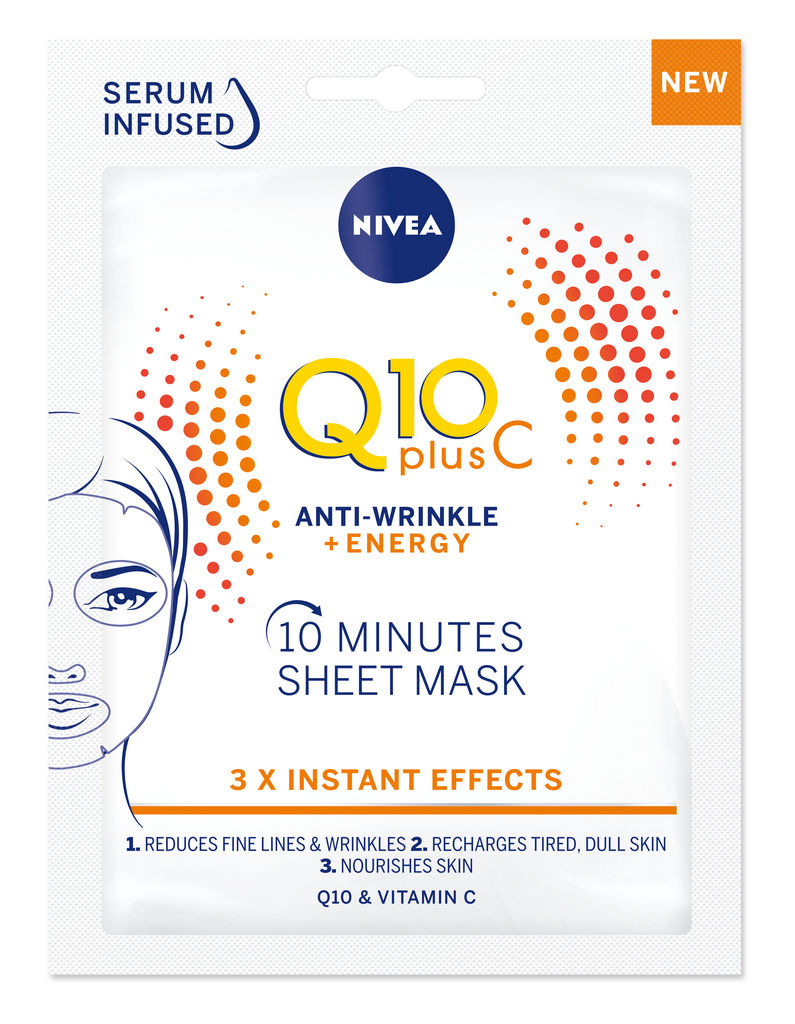 Maska Nivea Sheet, Q10 plus