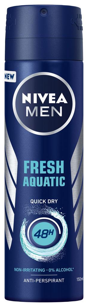 Dezodorant Nivea Men Fresh Aquatic, antiperspirant sprej za moške, 150ml