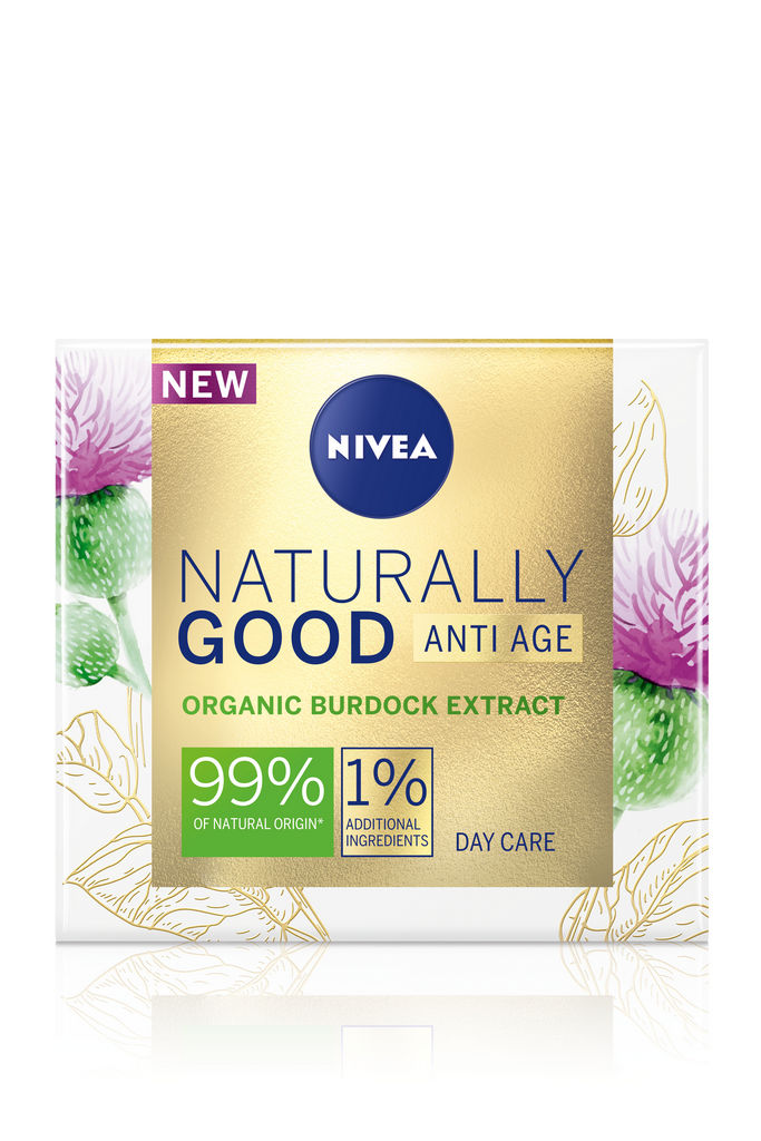 Krema za obraz Nivea Naturally good, dnevna proti gubam, 50ml