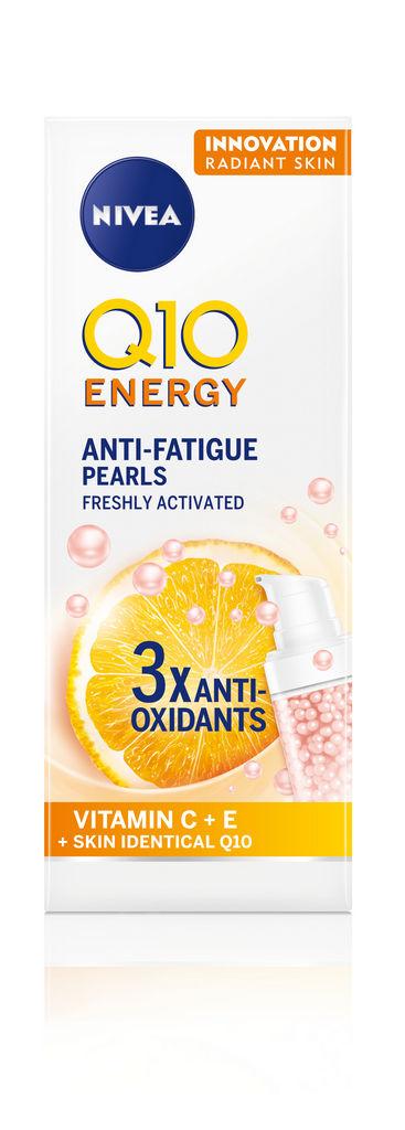 Serum za obraz Nivea Q10 biseri, vitamin C + E +skin identical Q 10, 30ml
