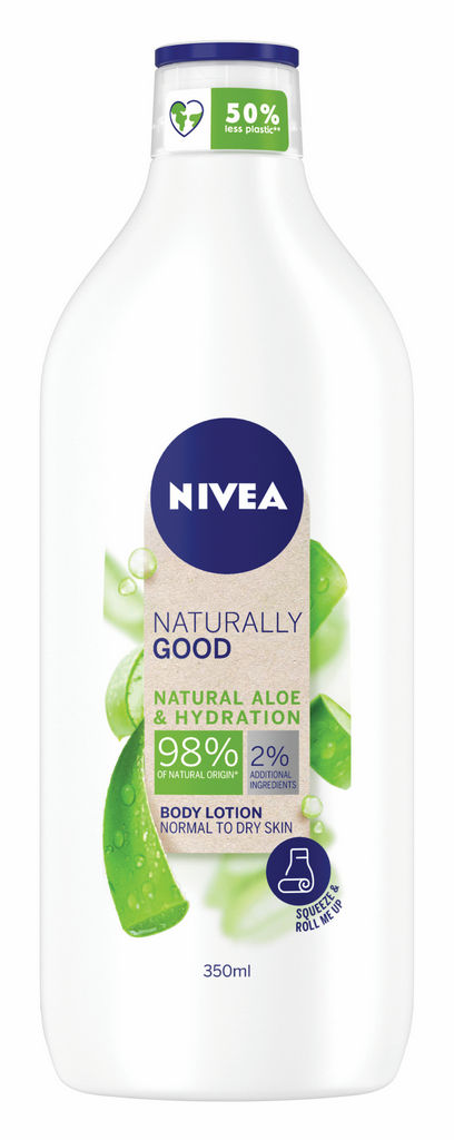 Losjon za telo Nivea, Naturally good, Aloe vera 350 ml