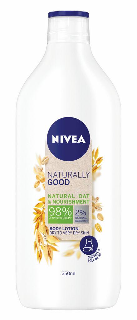 Losjon za telo Nivea, Naturally good, oves 350 ml