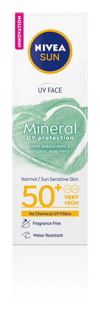 Nivea sun krema, mineral, za obraz, ZF50, 50 ml