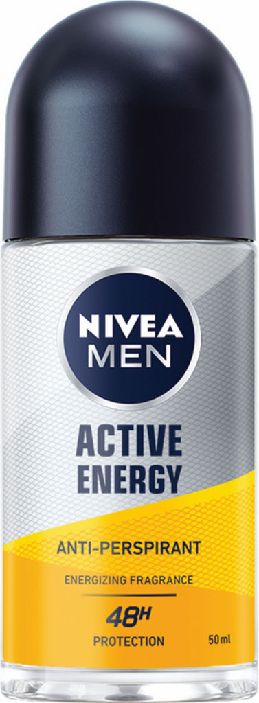 Roll-on Nivea, Active Energy, za moške, 50 ml