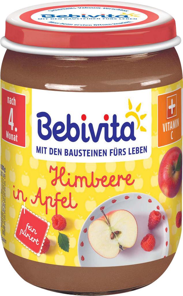 Kašica Bebivita, jabolka maline, 190 g