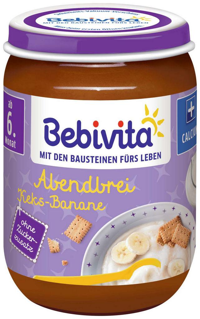 Kašica Bebivita, žitarice, zdrob, keks, 190 g