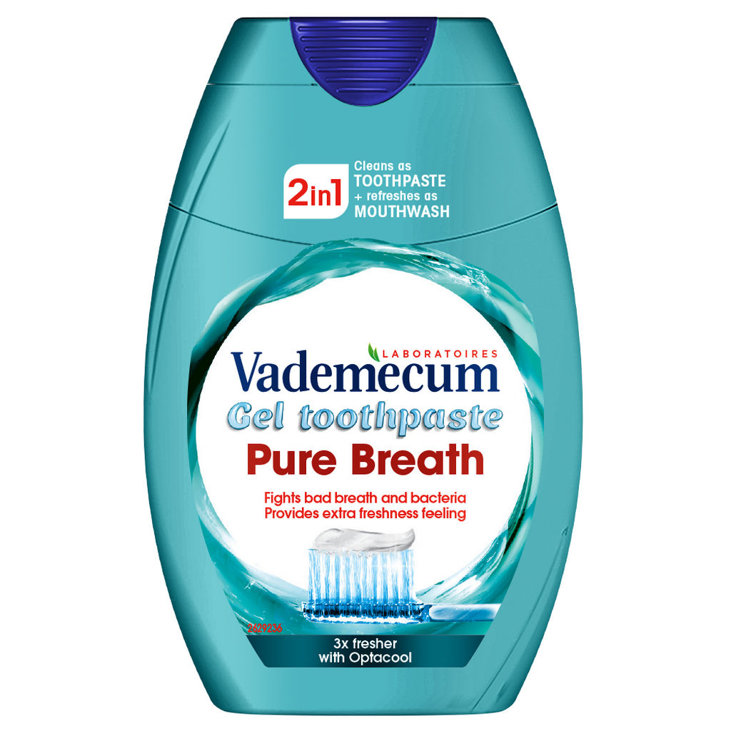 Zobna pasta Vademecum 2v1 Pure breath, 75ml