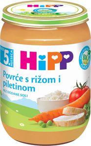 Kašica Hipp, Bio, zelenjava, piščanec, riž, 190 g