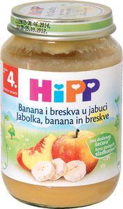Kašica Bio Hipp, jabolko, banana, breskev, 190g