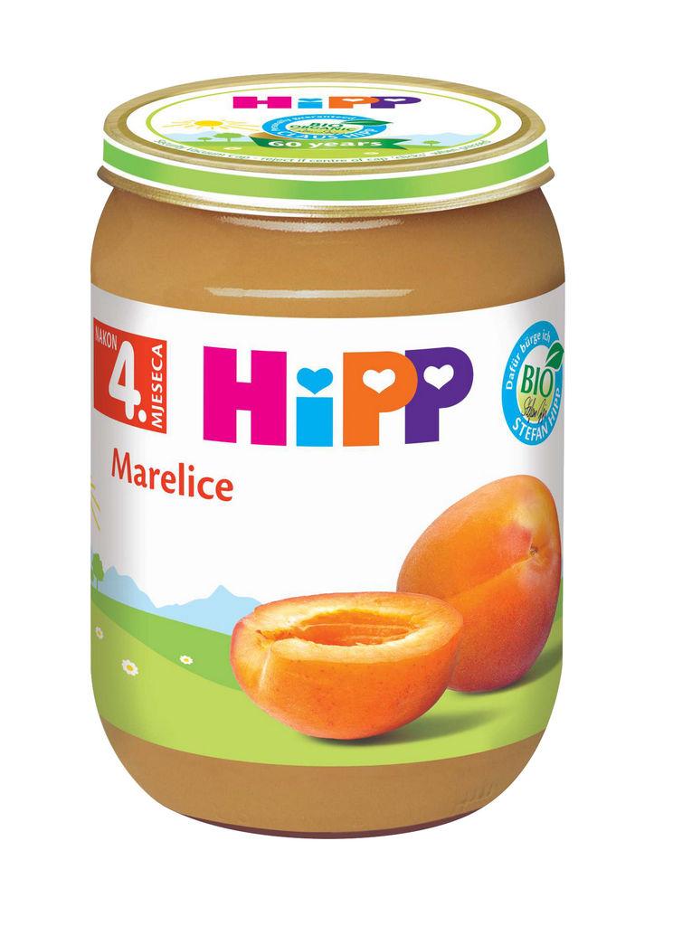 Kašica Hipp, Bio, marelica, 190 g