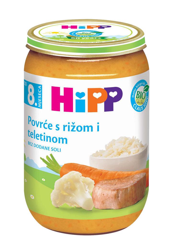 Kašica Hipp, Bio, teletina, zelenjava, riž, 220 g