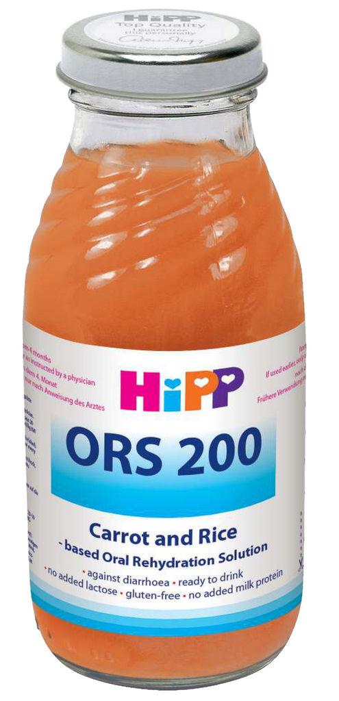Sok Hipp ORS 200, korenček, riž, 200 ml