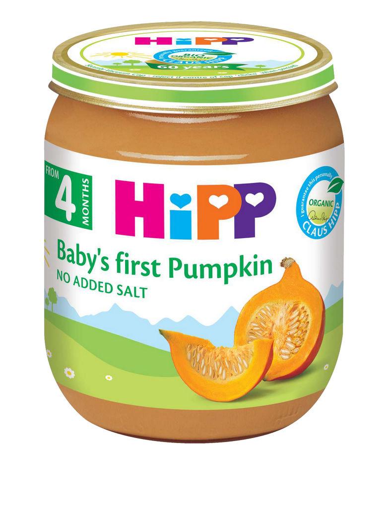 Kašica Bio Hipp, zelenjavna, Prva buča, 125 g