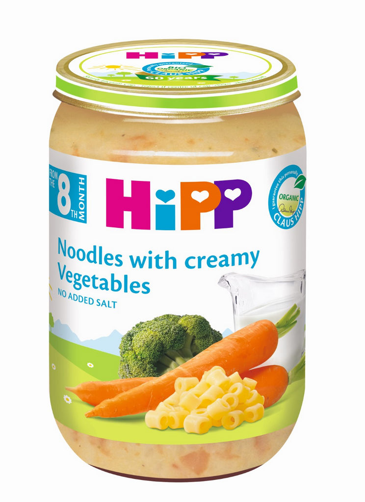 Kašica Bio Hipp, test.s kremno zelenjavno omako, 220g