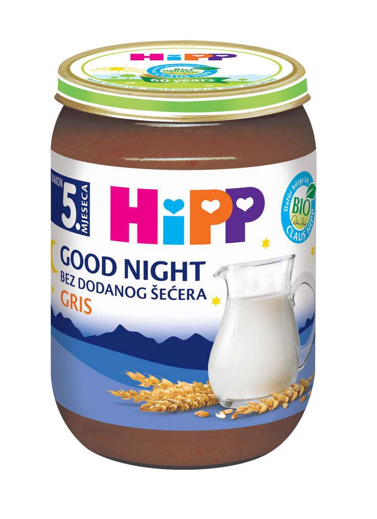 Kašica Hipp, Bio, mlečna, zdrob, vanilija, 190 g