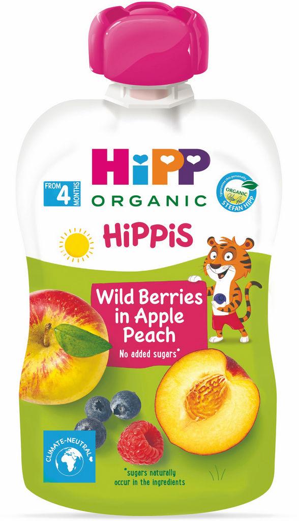 Blazinica Bio Hipp, gozdni sadeži, jabolko, breskev, 100 g