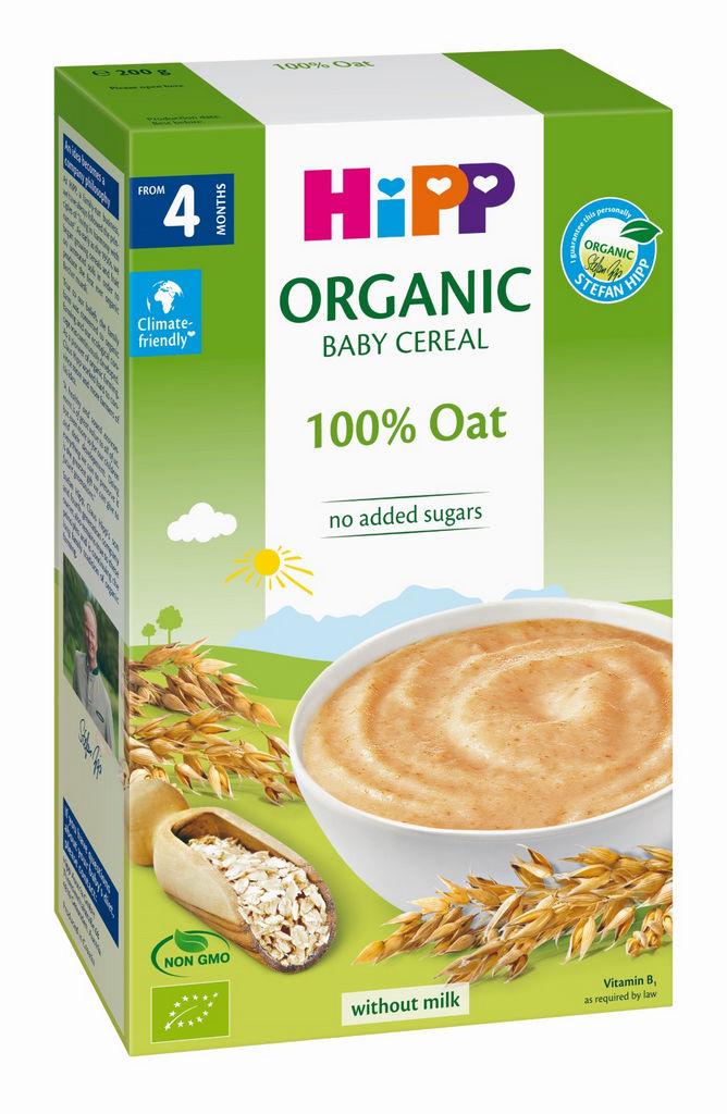 Kašica Bio Hipp, ekološka žita 100% oves, 200 g